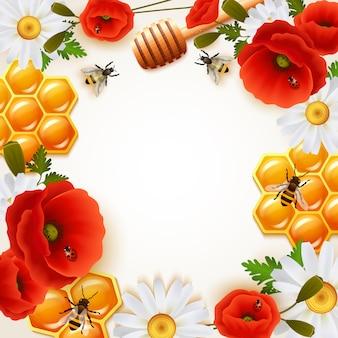 Honing gekleurde achtergrond