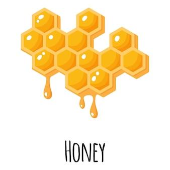 Honing-superfood voor ontwerp, etiket en verpakking van sjabloonboeren. natuurlijke energie-eiwit biologische voeding.