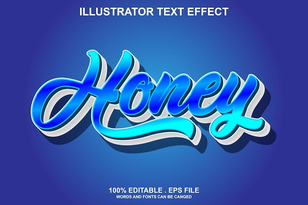 Honing teksteffect bewerkbaar