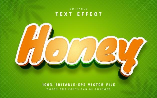 Honing teksteffect cartoon stijl