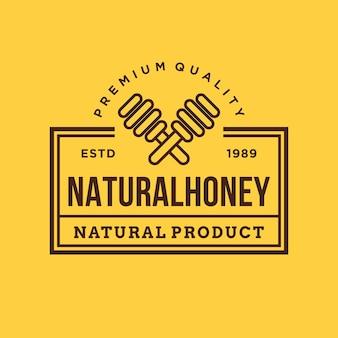 Honing zoet bijenlogo badge
