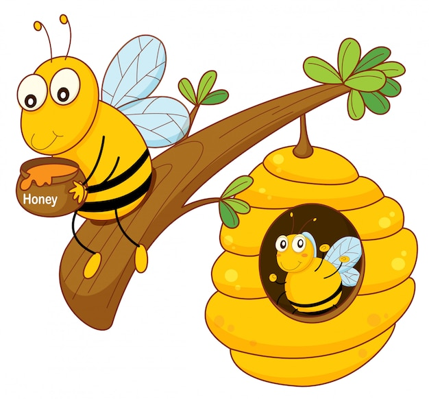 Honingbij en kam
