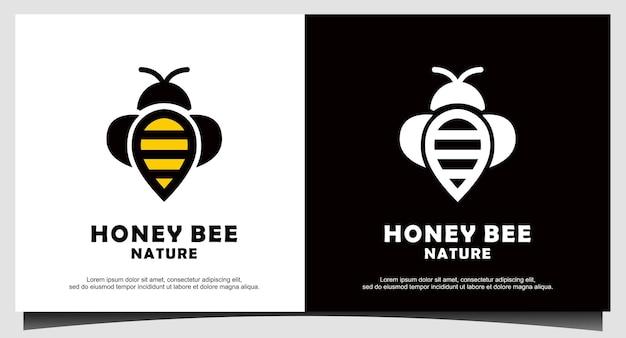 Honingbij logo ontwerp