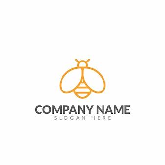 Honingbij logo ontwerpsjabloon vector