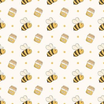 Honingbij naadloos patroon