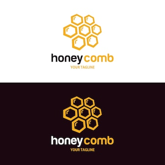Honingkam logo ontwerpsjabloon