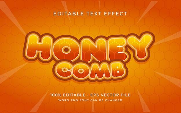 Honingkam teksteffectstijl bewerkbaar teksteffect