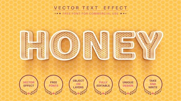 Honingraat bewerk teksteffect bewerkbare lettertypestijl