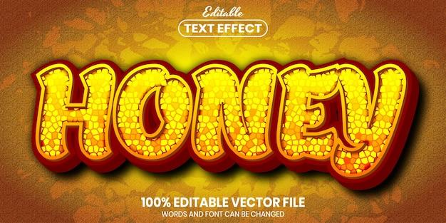 Honingtekst, bewerkbaar teksteffect in lettertypestijl