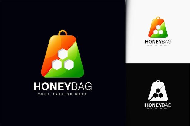 Honingzak logo-ontwerp met verloop
