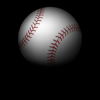 Honkbal achtergrond - bal met rood lint aan de hemel