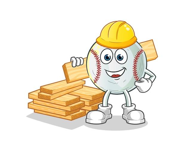 Honkbal bouwer illustratie