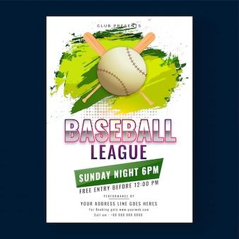 Honkbal competitie poster
