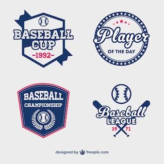 Honkbal cup badges gratis vector