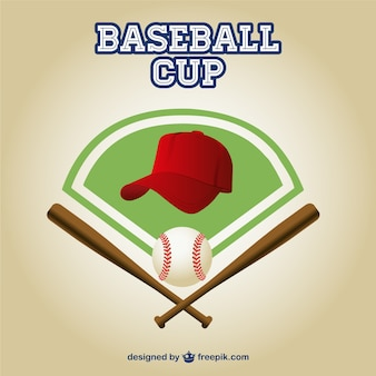 Honkbal cup gratis vector