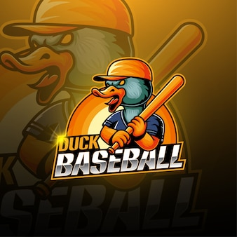 Honkbal duck esport mascotte logo
