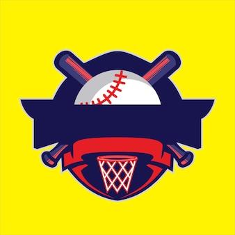 Honkbal embleem logo ontwerp