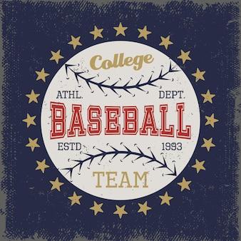 Honkbal gekleurde print