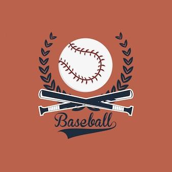 Honkbal gerelateerde pictogrammen afbeelding