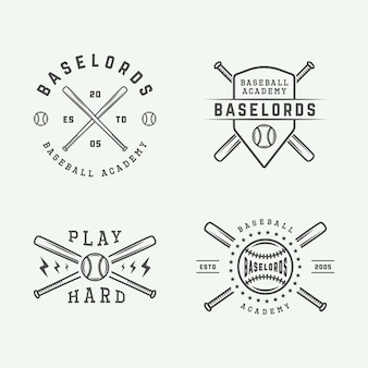 Honkbal logo set