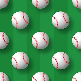 Honkbal naadloze patroon tennisbal tegel achtergrond