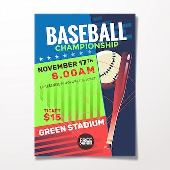 Honkbal sjabloon folder