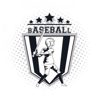 Honkbal speler pictogram
