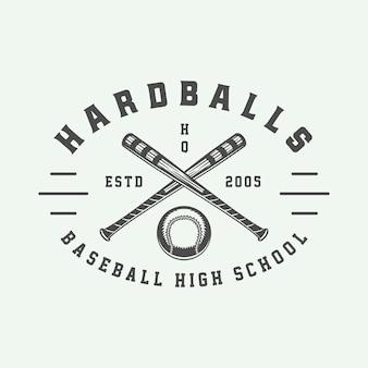 Honkbal sport logo