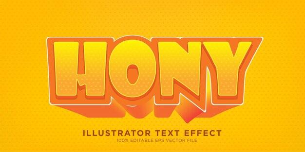 Hony teksteffect ontwerpstijleffect