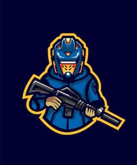 Hoodie robo gunner e sport logo