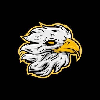 Hoofd eagle mascotte illustratie