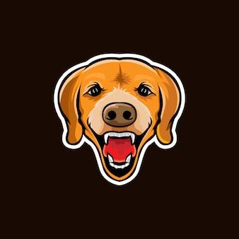 Hoofd hond illustratie