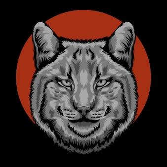 Hoofd kat illustratie