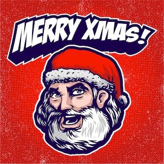 Hoofd logo van de kerstman