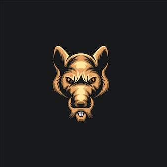 Hoofd muis logo ilustration
