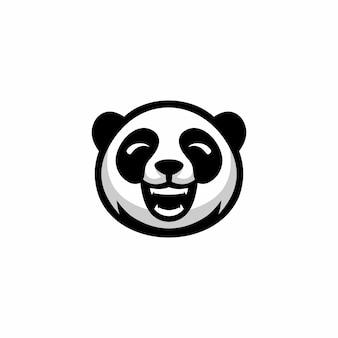 Hoofd panda logo ontwerp