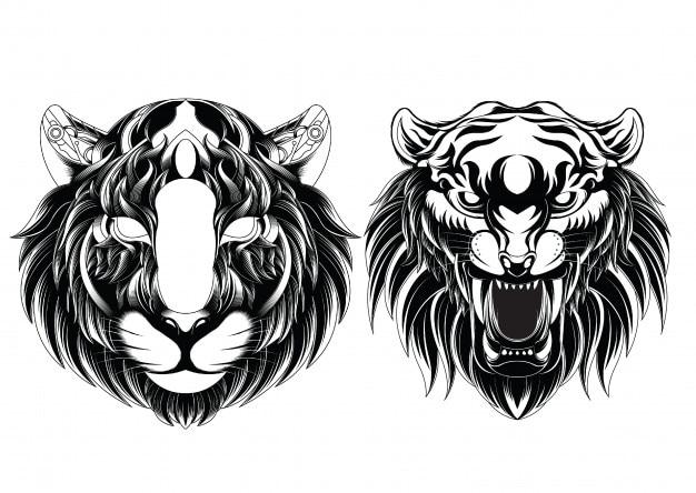 Hoofd tijger