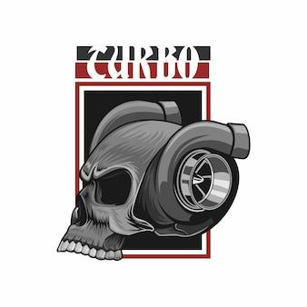 Hoofd turbo schedel t-shirt ontwerp
