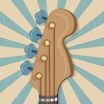 Hoofd van de gitaarmuziekbanner