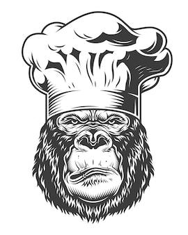 Hoofd van de gorilla