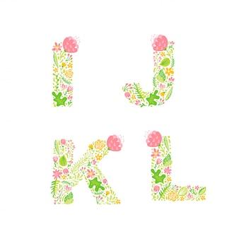 Hoofdletters met bloemen