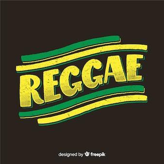 Hoofdletters tekst reggae achtergrond
