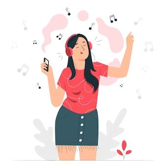 Hoofdtelefoon concept illustratie