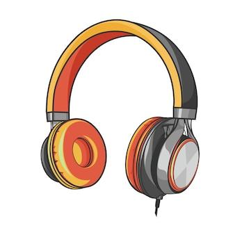 Hoofdtelefoon muziek en geluid oortelefoon