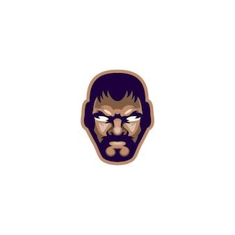 Hoofdvechter ontwerp vector logo