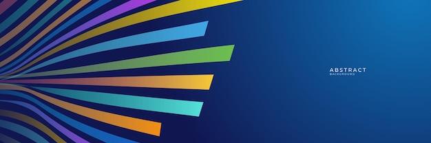 Hoog contrast blauwe en kleurrijke futuristische zakelijke achtergrond