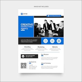 Hoog creatieve zakelijke marketing corporate flyer