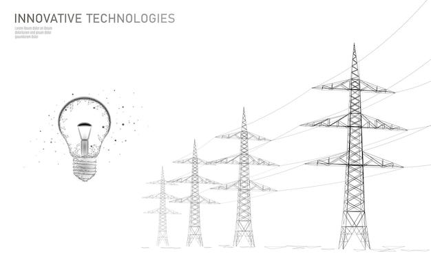 Hoogspanningslijn idee idee lamp.
