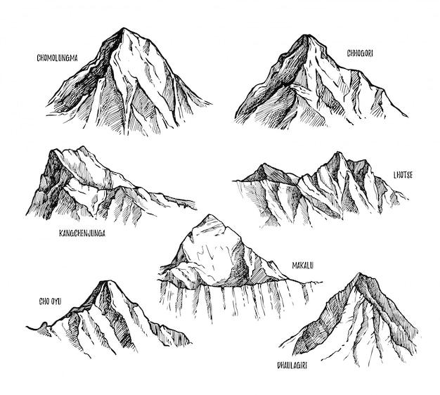 Hoogste bergen van himalaya