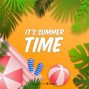 Hoogste mening van realistische de zomerachtergrond